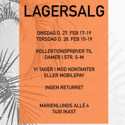 x-company lagersalgs banner