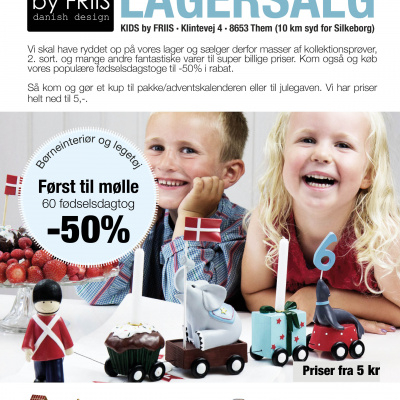 kids by friis lagersalg 2018 banner